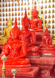 Sculpture buddha red Stock Photos
