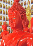Sculpture buddha red Royalty Free Stock Photo