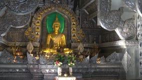 Sculpture of Buddha, Silver temple Wat Sri Suphan. Chiang Mai, Thailand