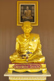 Sculpture buddha statue gold color full body sit model Stock Images