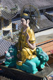 Sculpture of a Buddha on the temple Pagoda Linh Phuoc Royalty Free Stock Images