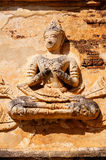 Sculpture. This is a sculpture in Buddhism. It is located in Wat Chet Yot at thailand royalty free stock images