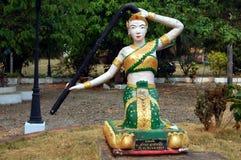 Sculpture of Buddhist Deity Royalty Free Stock Image