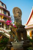 Sculpture at a Buddhist temple the city of Nakhon Ratchasima. Thailand. Stock Photography