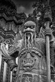 Sculpture in Buddhist temple Royalty Free Stock Photo