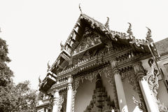 Sculpture in a Buddhist Royalty Free Stock Photos