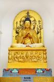Sculpture of Budha on Shanti Stupa Stock Image