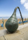 Sculpture of a buoy in Zarautz, Basque Country. Stock Images
