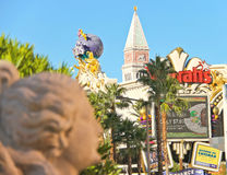 Sculpture in Caesar's Palace of the urban landscape  in Las Vega Stock Photos