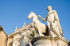 Sculpture at the Capitoline Hill Royalty Free Stock Image