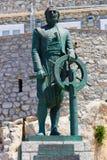 The sculpture of captain Miaoulis - Hydra Stock Photos