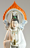 Sculpture carving of guanyin beautiful, isolated on background Stock Image