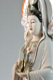 Sculpture carving of guanyin beautiful, isolated on background Stock Photography