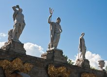 Sculpture on  cascade  Gold Mountain, Peterhof Stock Photography