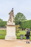 Sculpture `Cassandra under the protection of Pallas`. The Tuileries Park. Paris Royalty Free Stock Images