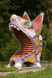 Sculpture of a cat. In the original performance in a park in Kiev Royalty Free Stock Photos