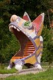 Sculpture of a cat Royalty Free Stock Photos