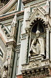 Sculpture of Cathedral. Sculpture of main Cathedral of Florence Stock Photo