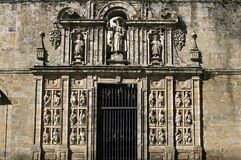 Sculpture on cathedral of Santiago de Compostela Stock Photos