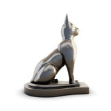 Sculpture cats side view Royalty Free Stock Photography