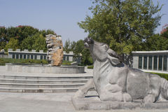 The sculpture of cattle Stock Photography