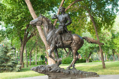 Sculpture cavalryman Royalty Free Stock Photography