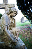Sculpture on cemetery Royalty Free Stock Image