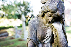 Sculpture on cemetery Stock Photography