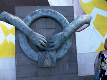 Sculpture in the centre of Funchal on the Island of Madiera Stock Photo