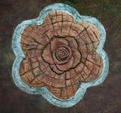 Sculpture ceramic of rose Stock Photos