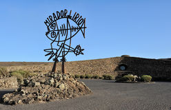 Sculpture by Cesar Manrique near Mirador del Rio, Lanzarote Isla Royalty Free Stock Photo
