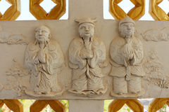 Sculpture Chaina. Arts and crafts plaster stucco wall natives in Thailand Royalty Free Stock Photo