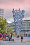 Sculpture of The Chalice located in Christchurch`s Cathedral Square, New Zealand, to celebrate the new millennium and the 150th An stock image