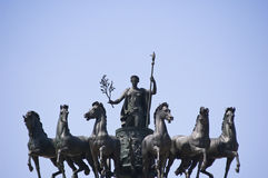 Sculpture of the chariots Royalty Free Stock Photos