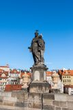 Sculpture on Charles bridge in Prague, Czech Republic Royalty Free Stock Photo
