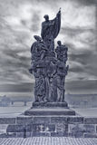 Sculpture on the charles bridge in prague Royalty Free Stock Photo