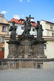 Sculpture on the Charles bridge in Prague Stock Image