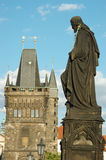 Sculpture of Charles bridge,unesco heritage,Prague Stock Photo