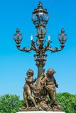 Sculpture cherubs on the bridge Alexander's III Royalty Free Stock Photography