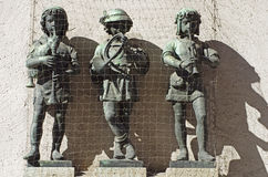Sculpture of children musicians Royalty Free Stock Image