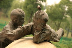 Sculpture of children Royalty Free Stock Photos