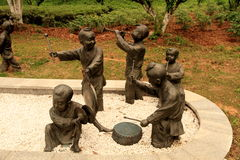 Sculpture of children Stock Photo