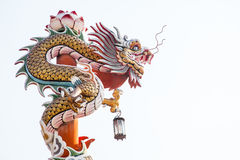 Sculpture of chinese dragon pillar Stock Photography