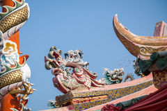 Sculpture of Chinese dragon Royalty Free Stock Images