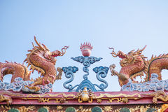Sculpture of Chinese dragon Stock Photos
