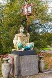 Sculpture of Chinese in the Greater China Bridge. Statue in Alexander`s park in Tsarskoye Selo (Pushkin) Saint Petersburg Russia Stock Image