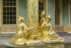 Sculpture of Chinese House, Potsdam, Germany. Golden sculpture of Chinese House in Sanssouci park, Potsdam, Germany Royalty Free Stock Photo