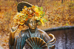 Sculpture of chinese lady Royalty Free Stock Photo