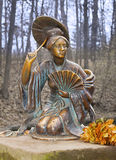 Sculpture of chinese lady Stock Photos