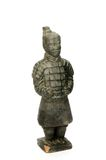 Sculpture of a chinese soldier - isolated Stock Image